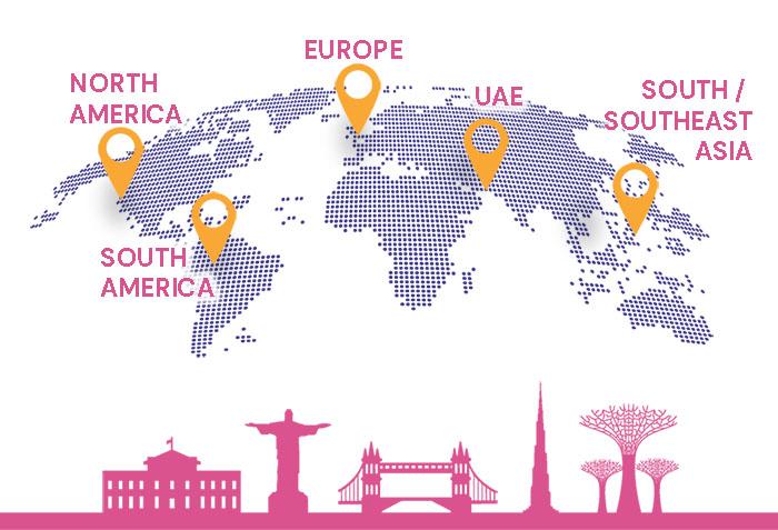 TikTok Agency global reach map
