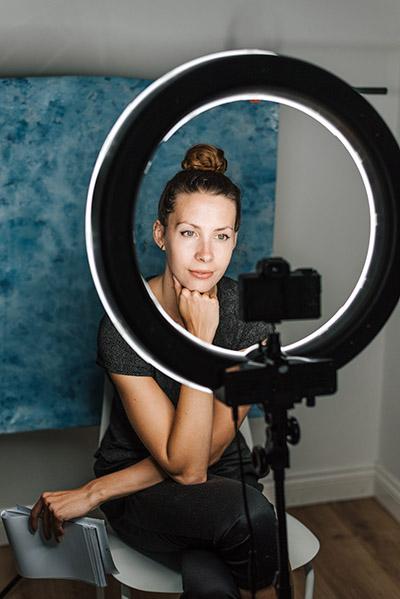 tiktok influencer filming shoot